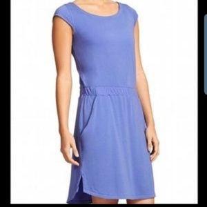 Athleta Redondo Purple Short Sleeve Dress Sz S